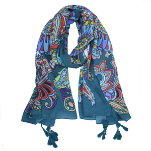 Wholesale 2018 hot sale shemagh cotton scarf fashion soft thin cashew flower print tassel korean style scarf
