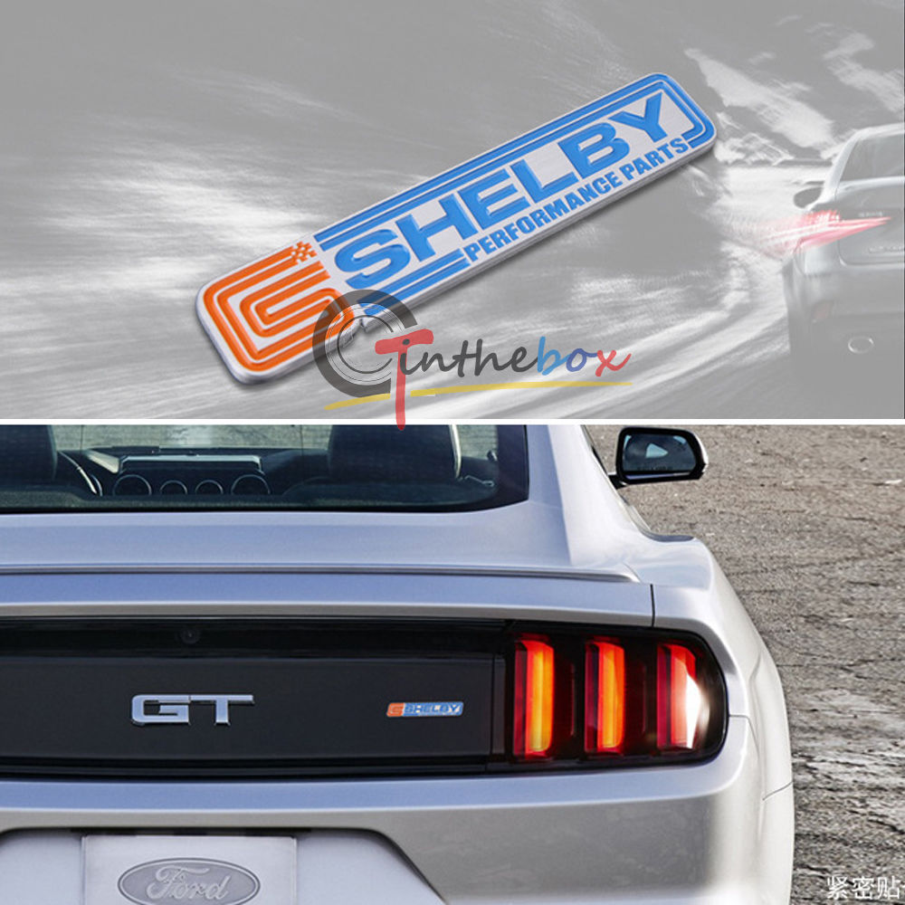 Shelby Metal Body Rear Sticker Emblem Car Badge For Ford Mustang Etc