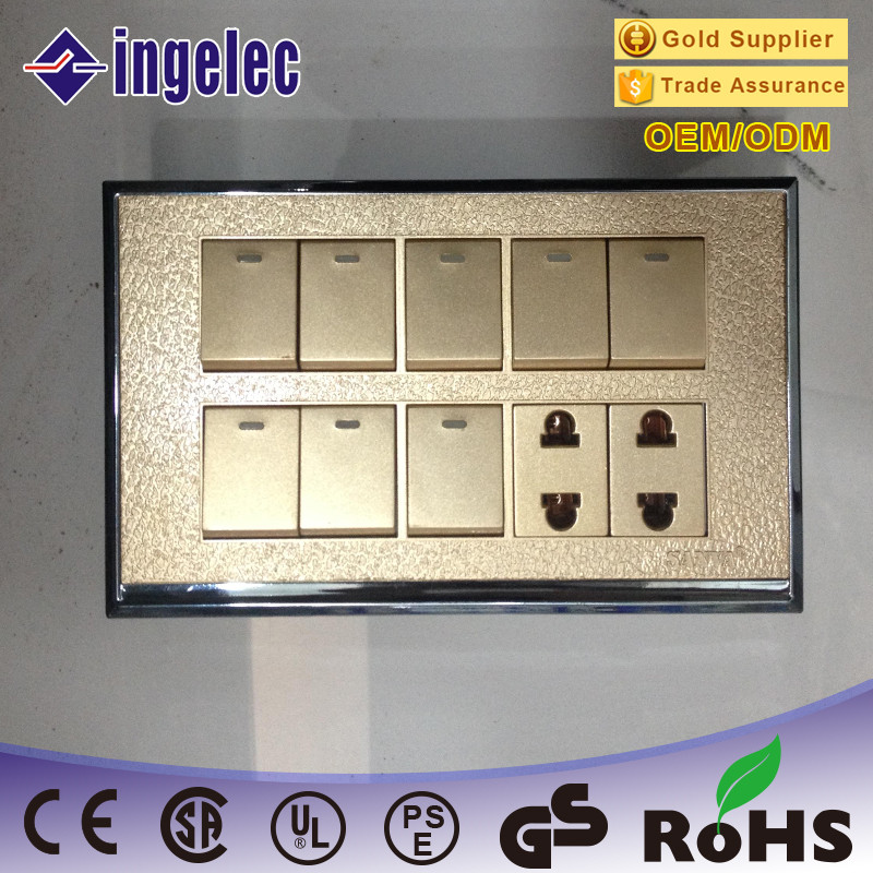 Wholesale Golden Quality Pakistan 82 Wall Switch Socket 46810