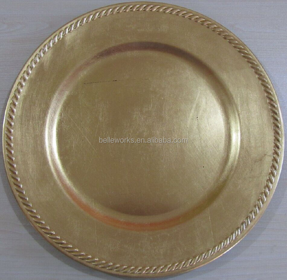 Rope Edge Wedding Charger <strong>Plates</strong>