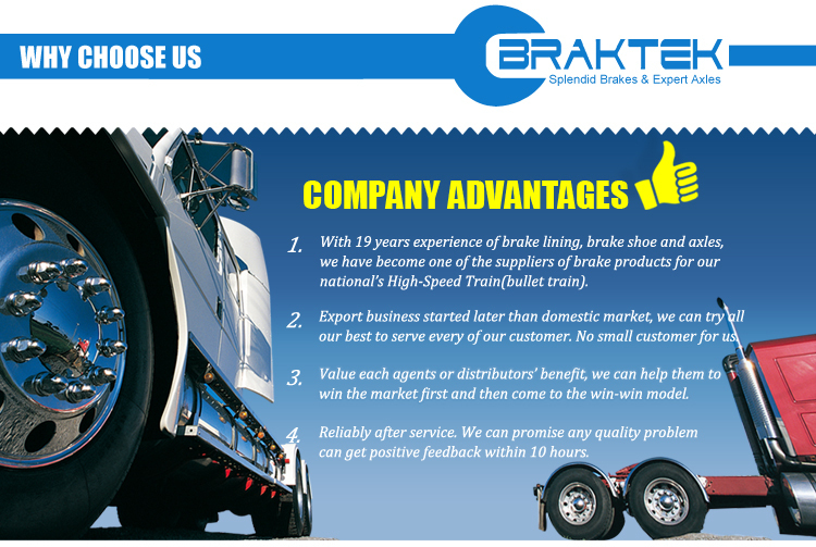 Semi-trailer 4707 Brake Shoe And Brake Lining Assembly