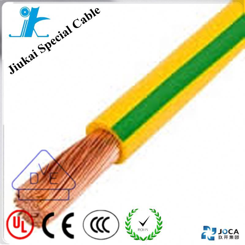 NO.3342- Green Yellow Grounding Wire Copper Conductor PVC insualted Earth Cable 35mm2