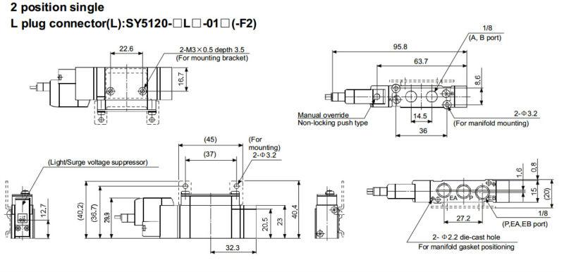 Sy5320-5lzd-01 5 Way Solenoid Valve-smc Solenoid Valve - Buy 5 Way