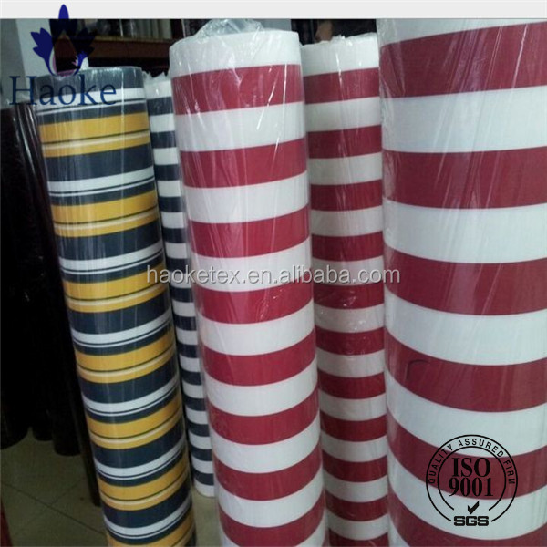 solution yarn dyed red white striped fabric for tarpaulin and awning