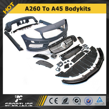 Top Quality W Class W176 A180 A200 A260 TO A45 PP Auto Car Body Styling Bumper