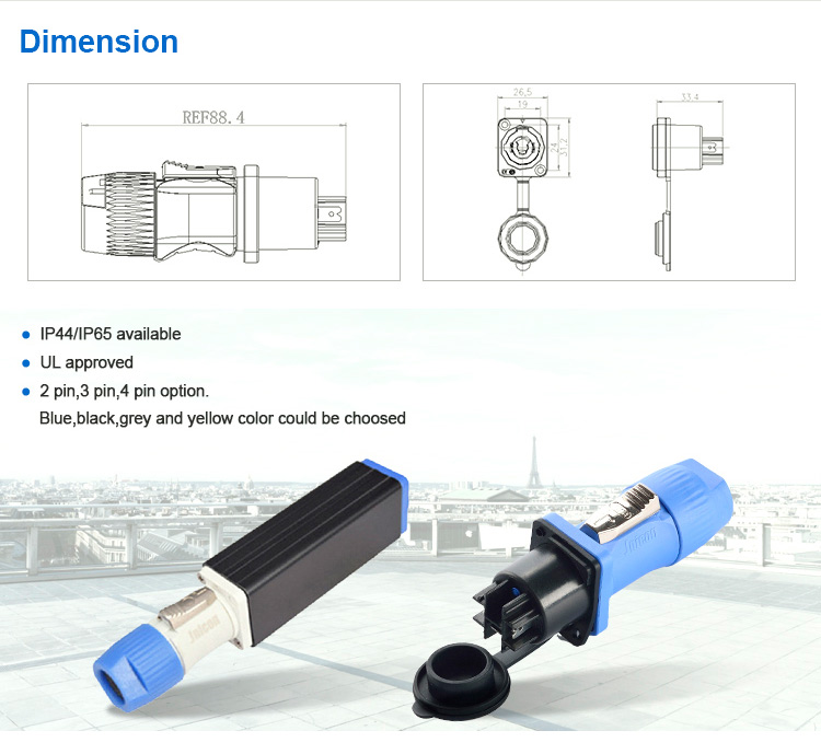 Ip44/ip65 Varies Color Powercon Inline Connector - Buy Powercon,Powercon  Adapter,Electrical Plugs Sockets Product on Alibaba com