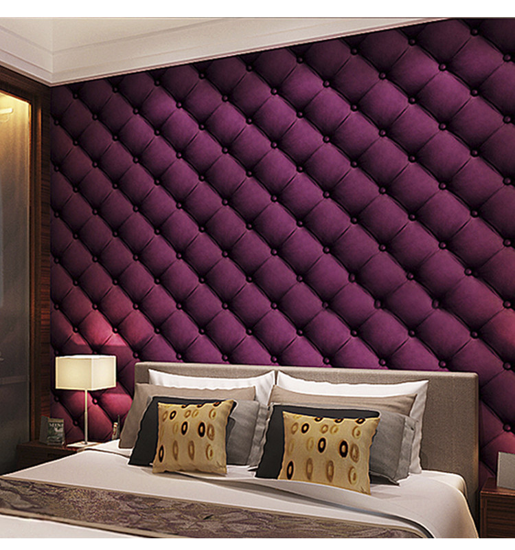 Free Samples Modern Pure Purple Color Wall Paper Wallpaper