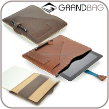 good quality office genuine leather portfolio for ipad business notebook briefcase leather portfolio case for men and women
