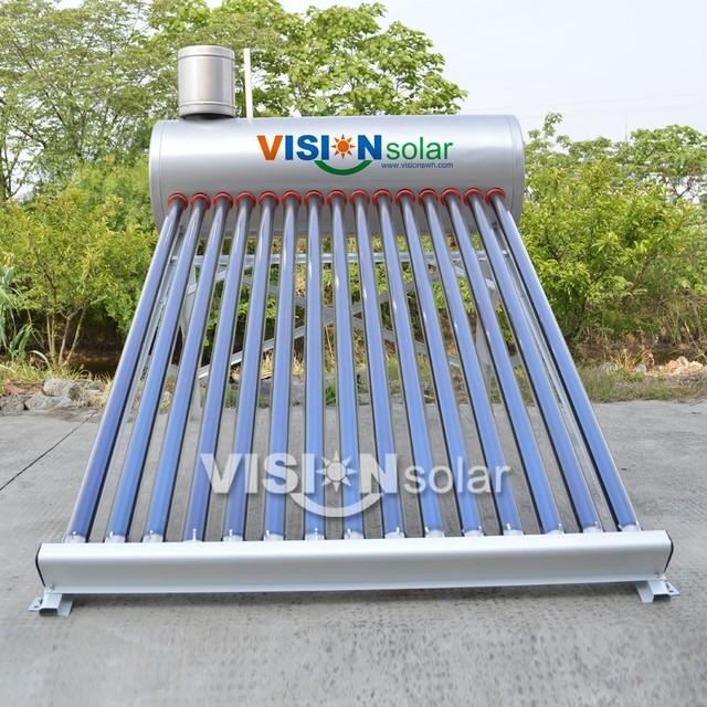 vacuum tube nonpressure china hot water solar heater