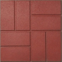recycled rubber brick pavers