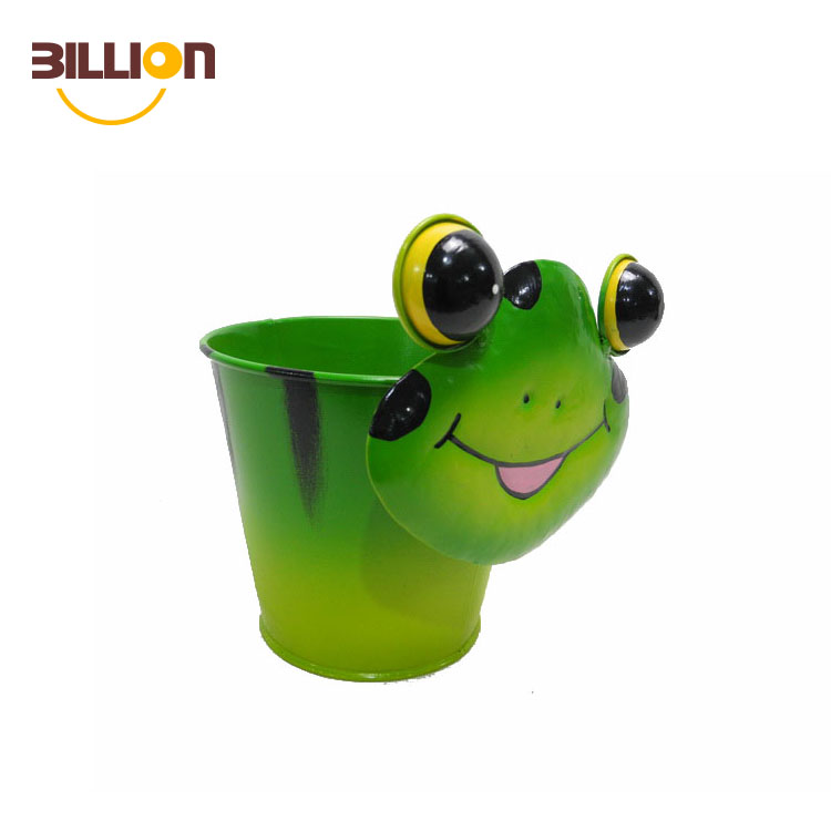 Frog Small Animal Planter Plants Indoor Outdoor Garden Metal Planters