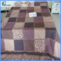 New design 100% cotton printed quilted batting adult bedspread sheet