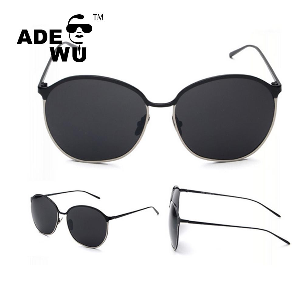 Ade wu 2016 occhiali da sole rotondi grandi occhiali da sole retro occhiali da sole a specchio - Occhiali per truccarsi allo specchio ...
