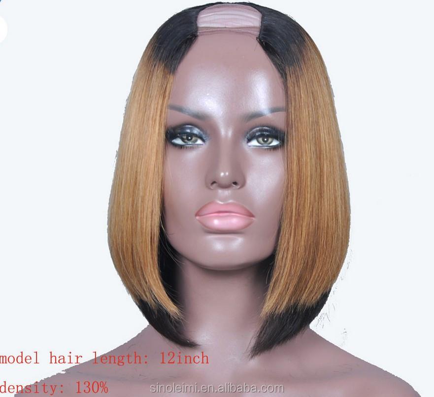 Bob Cut Wigs Human Hair U Part Wig ac872d796a29