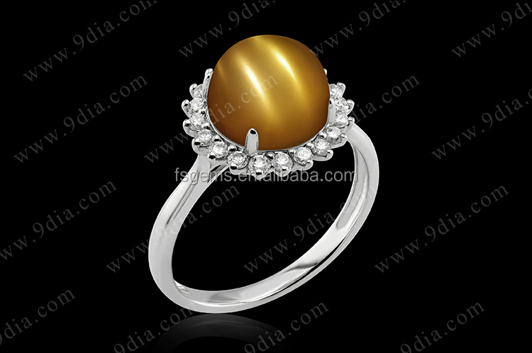 Nueva Llegada Chrysonitor De Ojo De Gato De 18 Quilates Precio Anillo De Diamantes De Oro Blanco Buy White Gold Ring Price White Gold Ring 18 Carat White Gold Diamond Ring Product On