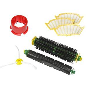 CIMC LLC For iRobot Roomba 500 Series Vacuum Cleaner Accessory Kit Accessory Kit-Includes 1 Beater Brush, 1 Bristle Brush, A Bristle Brush Cleaning Tool, 3 Filters, 1 Side Brushes, Replacement Kit