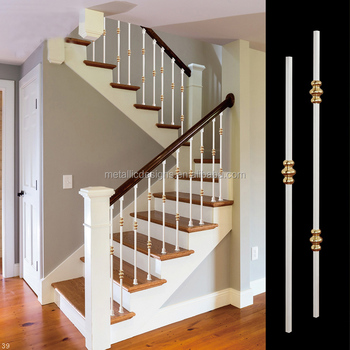 Powder Coating Spindle Iron Stair Railing/hand Railings For Stairs Outside  Wrought Iron Balustrades   Buy Steel Stair Hand Railing,Outdoor Wrought ...