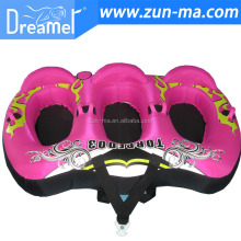 3 persons flying ski tube/inflatable water board for ocean,river, lake