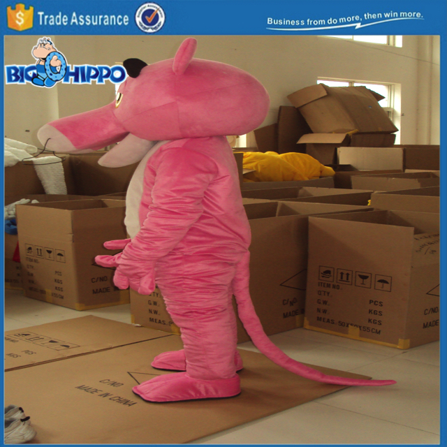 Pink panther detective comic poular cartoon high quality custom mascot costume