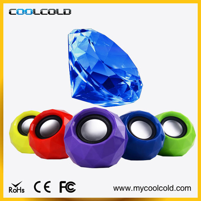 COOLCOLD manual portable mini speaker for laptop, promotion wired/wireless usb round mini speakers manual