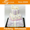 High quality hot sale cheap bakery window display beautiful Three-tier birthday cake model fake cake