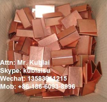 closed type copper finish clips/seals