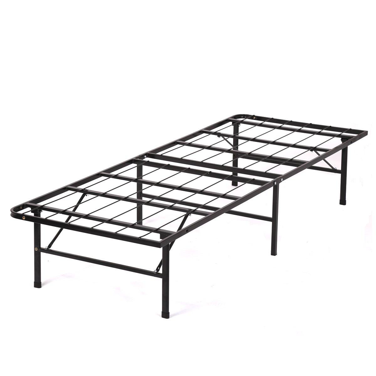 PayLessHere Bed Frame Bi-Fold Twin Folding Platform Metal Bed Frame Mattress Foundation