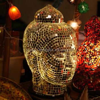 Glass Buddha Lamp - Buy Laughing Buddha Lamp,Stained Glass Buddha ...
