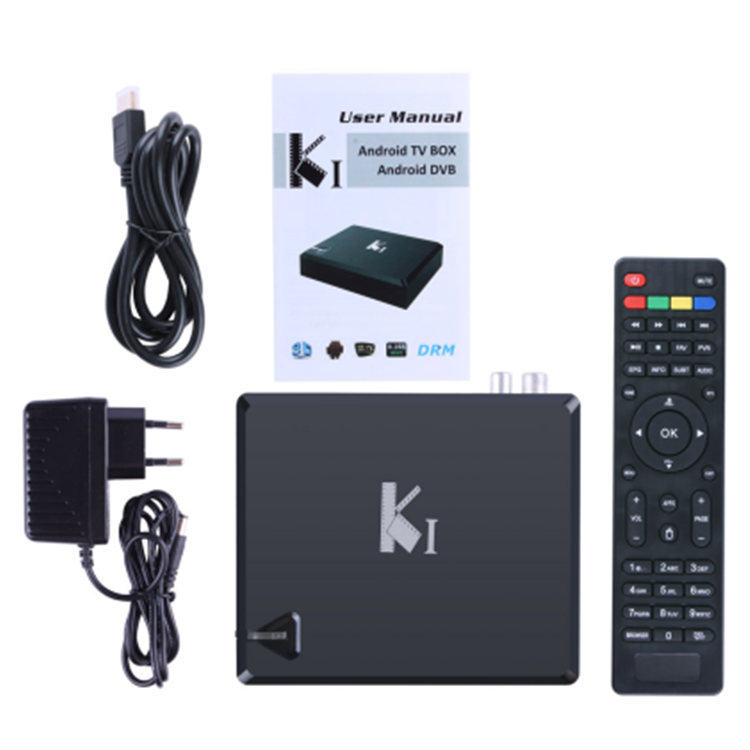 2018 android tv box Uuvision OEM Android + T2 + S2 3 IN 1 Combo Ricevitore tv box iptv QHDLive TV Box
