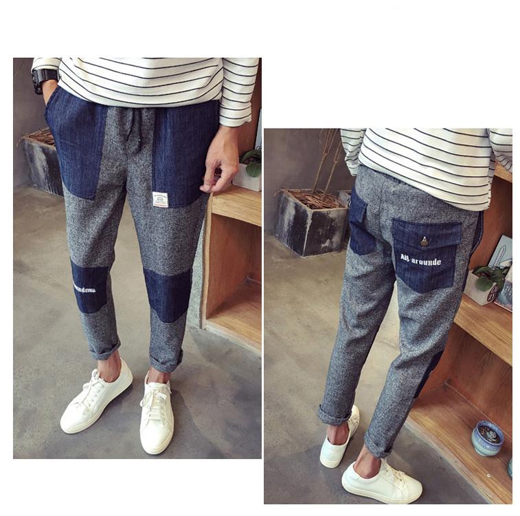 StreetWear Hiphop Patch New Style Boys Harem Pants Biker Jeans For Men