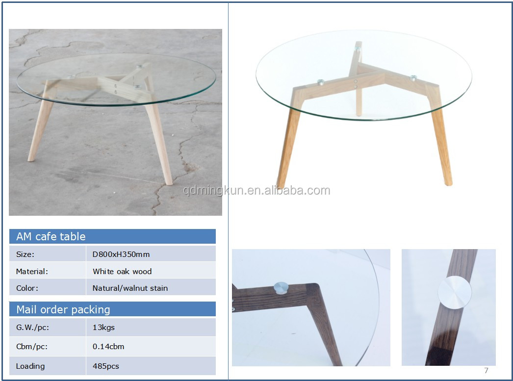 High quality tempered glass top tea coffee table design