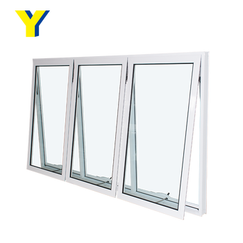 Aluminum glass block windows factory double glazed aluminium awning window