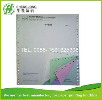 241*280mm 4-ply With Company Logo Heading Color Paper Invoice ...