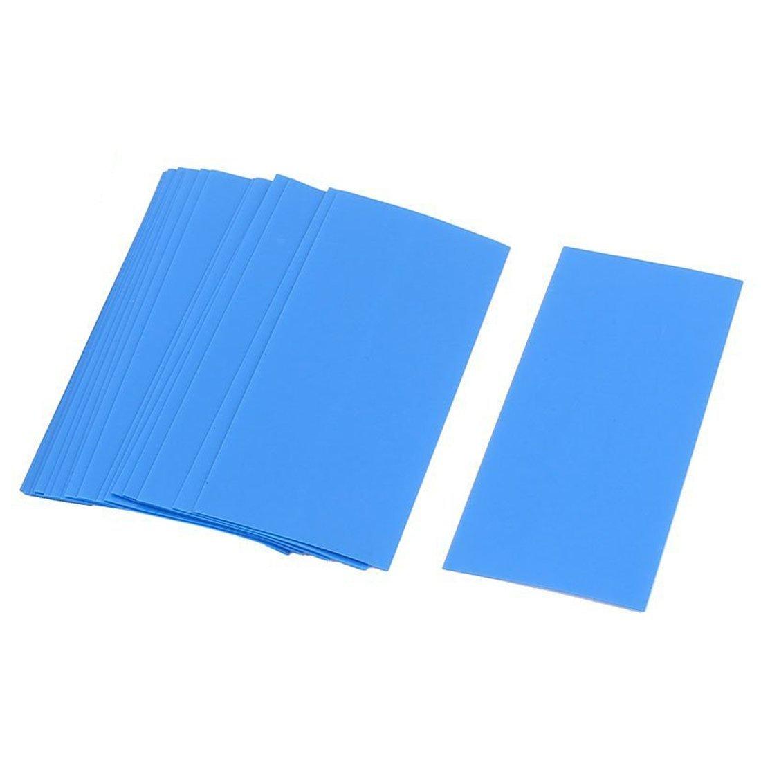 SODIAL(R) 20x 18.5mm Dia PVC Heat Shrink Tubing Blue for 1 x 18650/18500 Battery