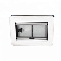 Modern RV window caravan window flat push window with blind for rv car