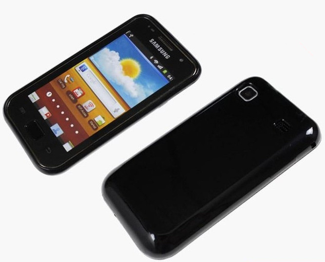 Colorful Grip Gel Silicone Case For Samsung GT i9003 Rubber Back Cover For Galaxy SL + i9003 Screen Protector