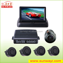 Newly 4.3 inch fold screen car video reverse parking sensor for honda