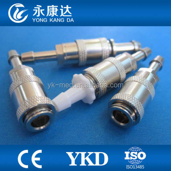 Datascope, HP, Colin Male Bayonet Socket Blood Pressure Cuff for Air Hose Luer Lock NIBP Connector
