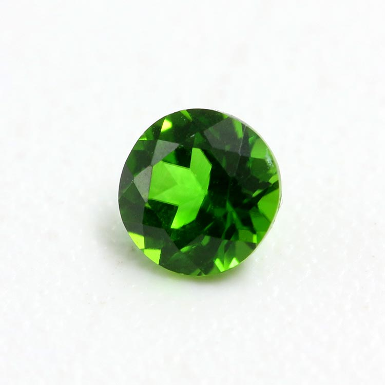 wholesale natural green diopside 3mm round cut diopside stones