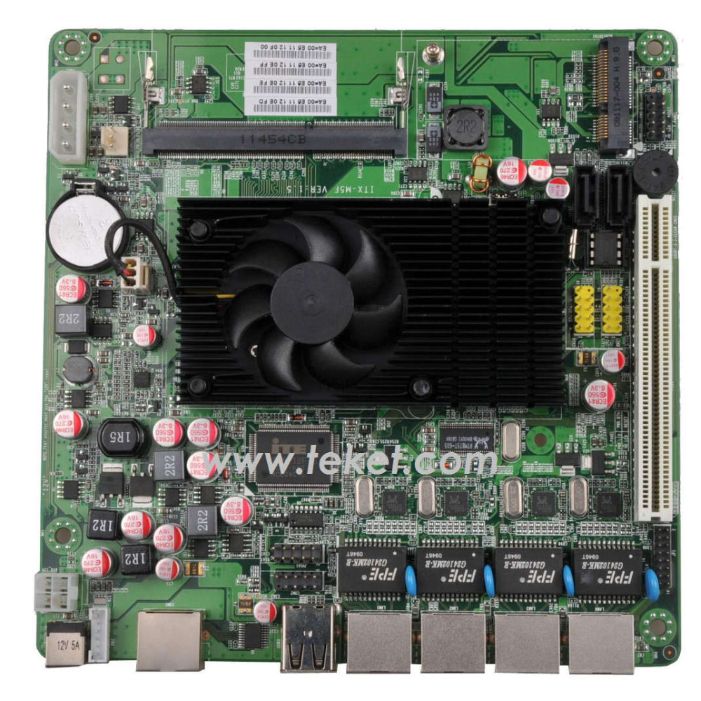 Firewall mini itx board D525MF with 4 LAN 12V for network security internet device router,firewall NAS storage/network server