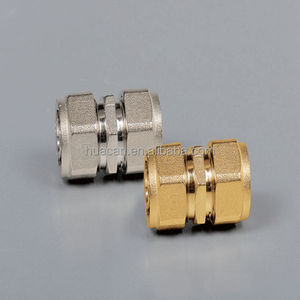 Brass/Copper Compression Equal Coupling Fittings For Pe Pipe