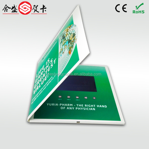 "innovative craft cutting dies video greeting card ,lcd brochure diy with 5"" lcd monitor"