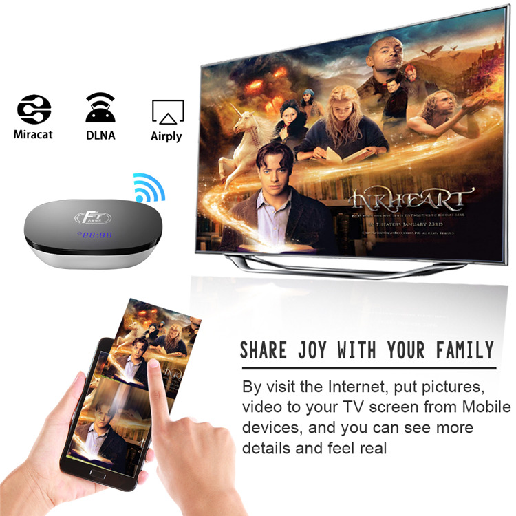 A95XF1 Support smart phone remote control 1gb 8gb 2gb 16gb Amlogic S905W internet tv box 4k Android 8.1