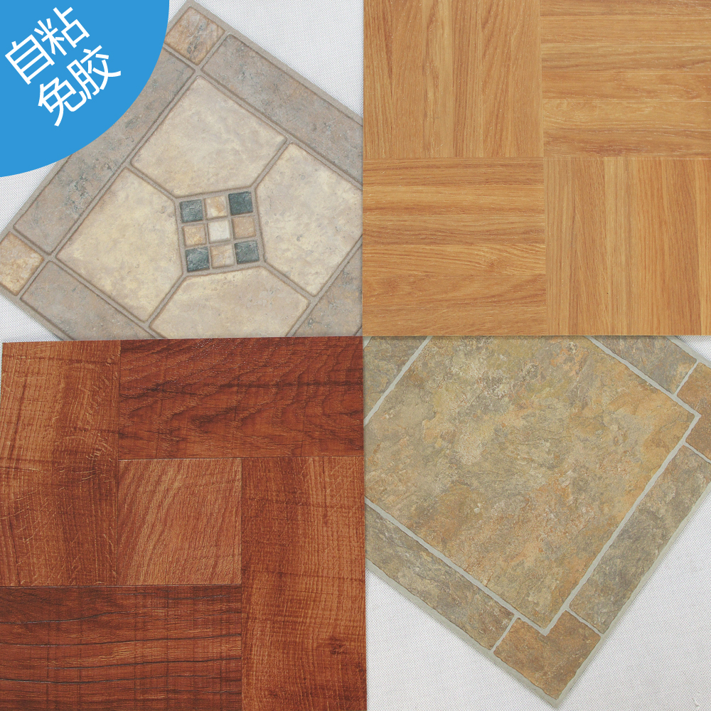 12 in x 12 in gray brown peel and stick slate finish vinyl tile parquet plastic floor tiles cork. Black Bedroom Furniture Sets. Home Design Ideas