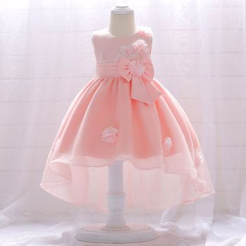 Flower Baby Cotton Clothing Girls Kids Cocktail Birthday Party Wear Frocks T1866XZ