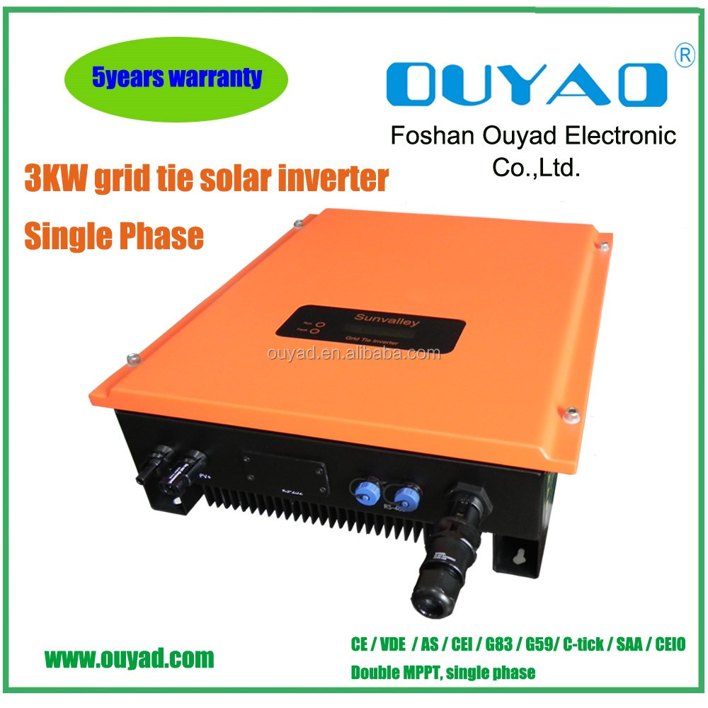Eco Friendly Solar Energy System 3kw Grid Tie Inverter For
