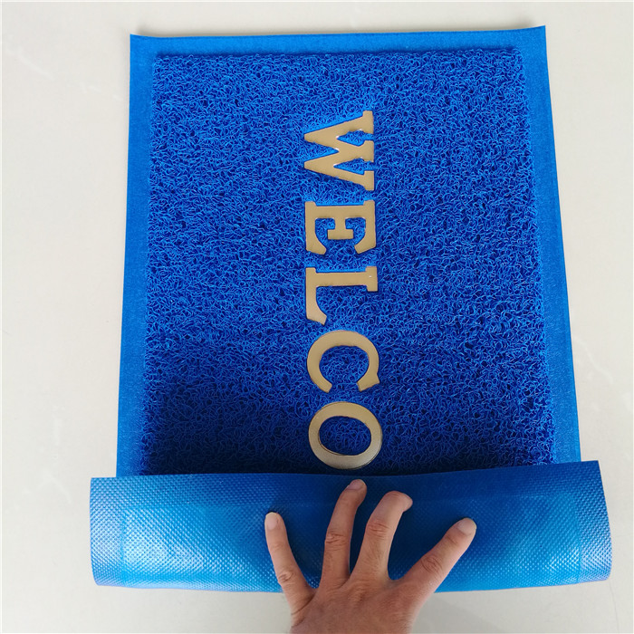 colorful Waterproof pvc joint injection molding plastic mats vinyl loop mat