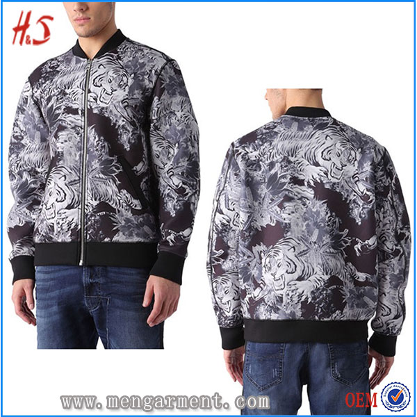 New Arrival Men's Bomber Jacket From Chinese Wholesale Websites Printed Jacket For Men