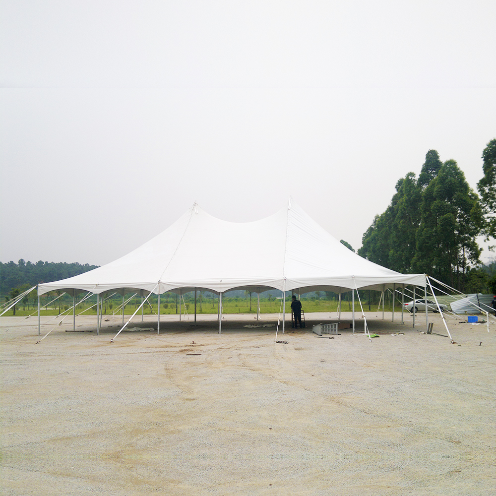 COSCO Outdoor Aluminium 100 Seater Party Marquee Event Tent Large Wedding Pole Tent