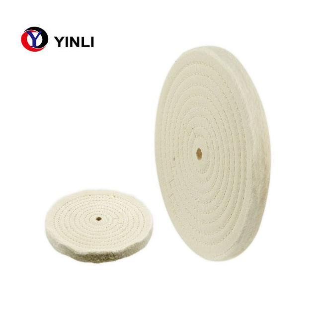 "8/"" x 20 ply 3//8/"" CENTER HOLE White Stitched COTTON polishing buffing wheel BUFFS"